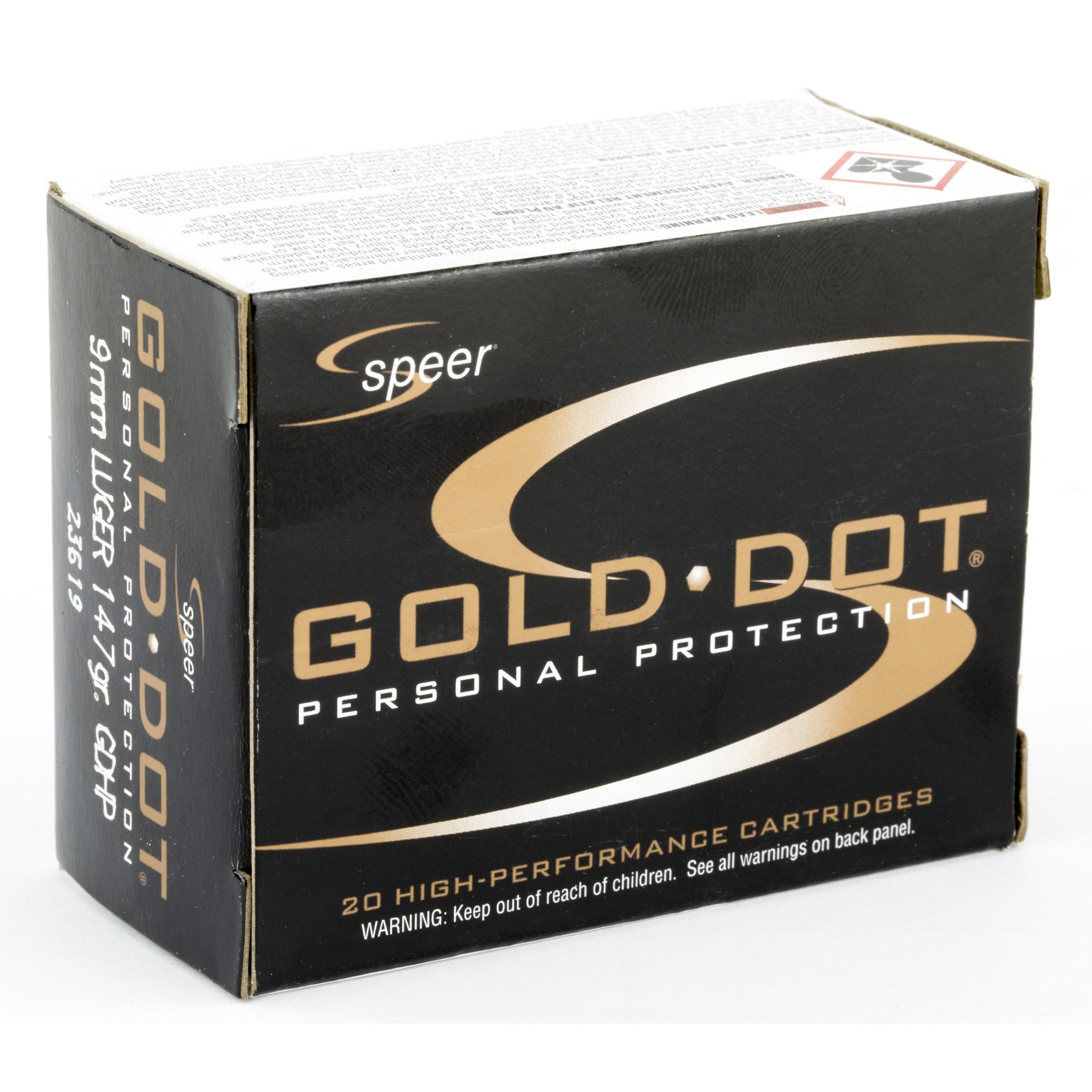 Spr Gold Dot 9mm 147gr Hp 20/500